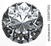 round diamond  isolated on... | Shutterstock . vector #120397201