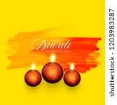 diwali greeting card with... | Shutterstock .eps vector #1203983287