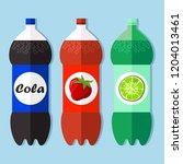 soda flat design icon vector... | Shutterstock .eps vector #1204013461