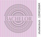 bachelor pink emblem. retro | Shutterstock .eps vector #1204018684