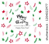 vector merry christmas and... | Shutterstock .eps vector #1204022977