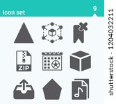 contains such icons as cube ... | Shutterstock .eps vector #1204032211