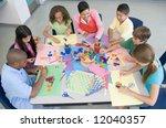 elementary school art lesson... | Shutterstock . vector #12040357