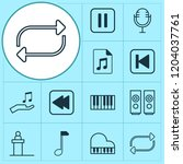 audio icons set with piano ... | Shutterstock .eps vector #1204037761