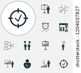 authority icons set with... | Shutterstock . vector #1204037827