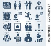 simple set of 16 icons related... | Shutterstock .eps vector #1204039117