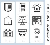simple set of  9 outline icons... | Shutterstock .eps vector #1204041031