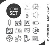contains such icons as... | Shutterstock .eps vector #1204041244