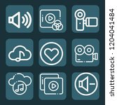 contains such icons as video... | Shutterstock .eps vector #1204041484