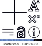 set of 6 signs outline icons... | Shutterstock .eps vector #1204043311