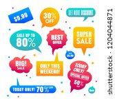 colorful speech bubbles for... | Shutterstock .eps vector #1204044871