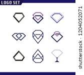 diamond set logo element.... | Shutterstock .eps vector #1204052071