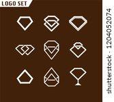 diamond set logo element.... | Shutterstock .eps vector #1204052074