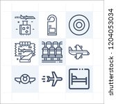 simple set of 9 icons related... | Shutterstock .eps vector #1204053034