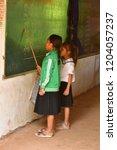 koh chen  kingdom of cambodia   ... | Shutterstock . vector #1204057237