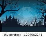 cemetery graveyard grave stone... | Shutterstock .eps vector #1204062241