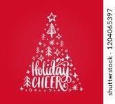 handwritten phrase holidays... | Shutterstock .eps vector #1204065397