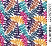 fern frond herbs  tropical... | Shutterstock .eps vector #1204070074