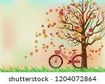 paper art of illustration... | Shutterstock .eps vector #1204072864