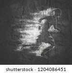 running woman. side view... | Shutterstock . vector #1204086451