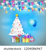 illustration of decorated... | Shutterstock .eps vector #1204086967