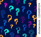 question marks signs seamless... | Shutterstock .eps vector #1204089154