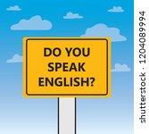 do you speak english written on ... | Shutterstock .eps vector #1204089994