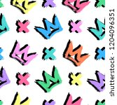 seamless pattern with colorful... | Shutterstock .eps vector #1204096351