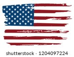 grunge flag of usa.american... | Shutterstock .eps vector #1204097224