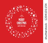 merry christmas card... | Shutterstock .eps vector #1204101154