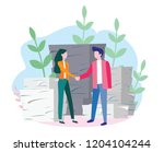 bureaucracy concept for web... | Shutterstock .eps vector #1204104244