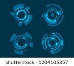 vector icon set technology... | Shutterstock .eps vector #1204105357