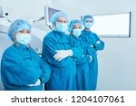 side view of asian surgeons in... | Shutterstock . vector #1204107061