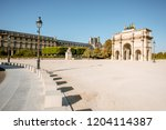 triumphal arch at tuileries... | Shutterstock . vector #1204114387