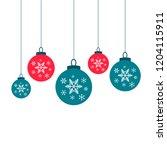 christmas balls vector... | Shutterstock .eps vector #1204115911