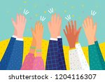 people applaud. human hands... | Shutterstock .eps vector #1204116307