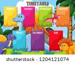 timetable with colourful... | Shutterstock .eps vector #1204121074
