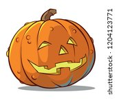 pumpkin smiles illustration | Shutterstock .eps vector #1204123771