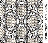 baroque damask vector black and ... | Shutterstock .eps vector #1204124857