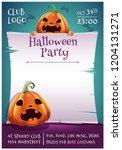 happy halloween editable poster ... | Shutterstock .eps vector #1204131271