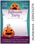 happy halloween editable poster ... | Shutterstock .eps vector #1204131274