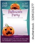 happy halloween editable poster ... | Shutterstock .eps vector #1204131277