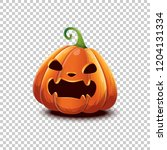 happy halloween. vector... | Shutterstock .eps vector #1204131334