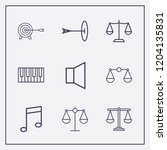 outline 9 harmony icon set.... | Shutterstock .eps vector #1204135831