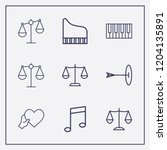 outline 9 harmony icon set.... | Shutterstock .eps vector #1204135891