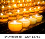 Prayer Candles At A Church In...