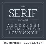 serif letters set. modern... | Shutterstock .eps vector #1204137697