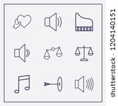 outline 9 harmony icon set.... | Shutterstock .eps vector #1204140151