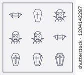 outline 9 bloody icon set.... | Shutterstock .eps vector #1204142287