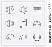 outline 9 harmony icon set.... | Shutterstock .eps vector #1204144777